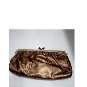 Express Clutch Metallic Copper Color 10 in x 5 in